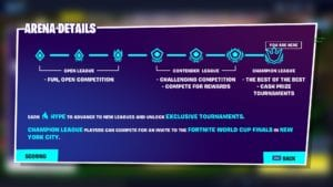 Fortnite: Keys to Each Arena Division • The Game Haus