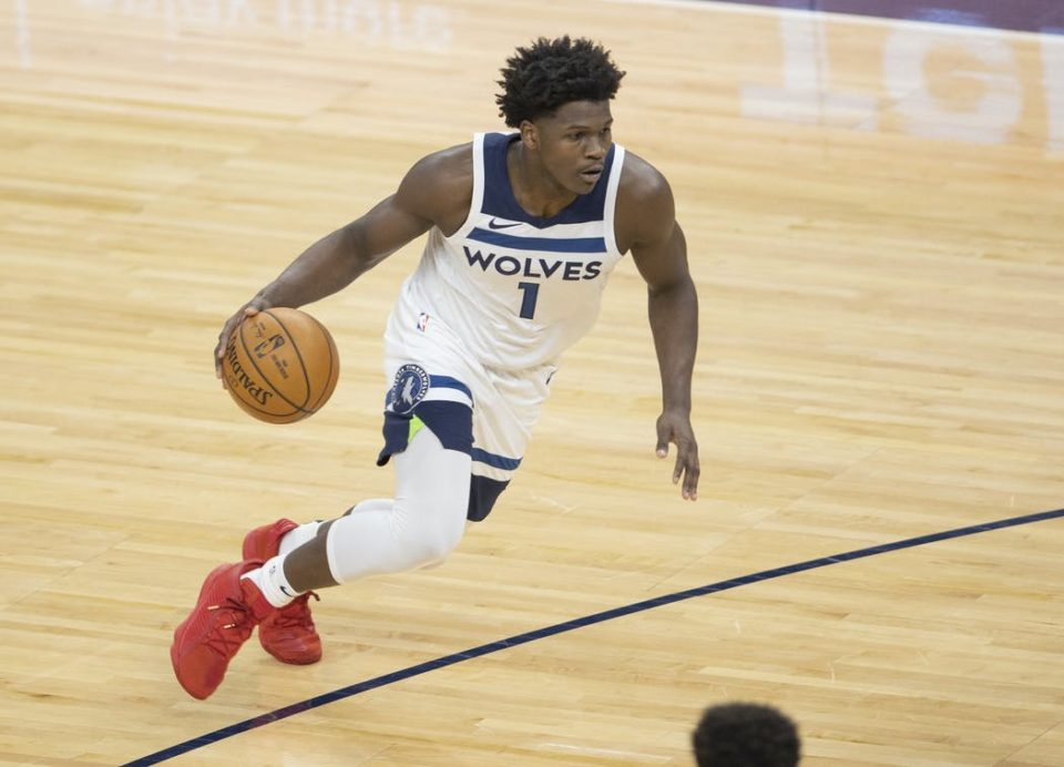 Anthony Edwards scores career high 34 in Timberwolves win