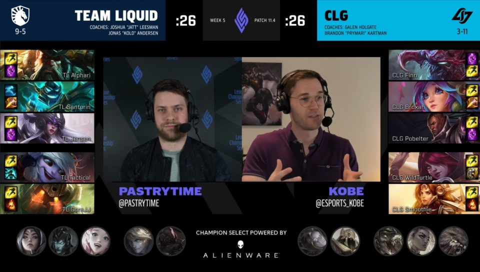 Team Liquid and CLG draft from Spring Split Week 5.